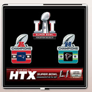 Super Bowl LI (51) Patriots vs. Falcons Dueling Pin Set - Limited to only 5,000 made