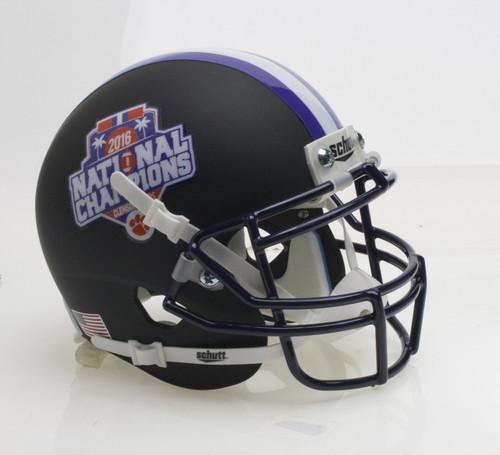 Clemson Tigers Alternate Black Special FBS National Champions NCAA Schutt Full Size Replica XP Football Helmet