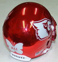 Louisville Cardinals ALI decal Alternate Red Chrome Schutt Full Size Replica XP Football Helmet