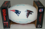 NFL Wilson Official Super Bowl 51 LI Commemorative All-White Dueling Football