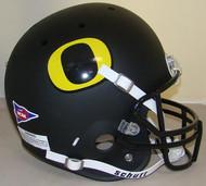 Oregon Ducks Schutt FLAT BLACK Full Size Authentic Helmet