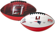 Super Bowl LI 51 Official Size New England Patriots Championship Football