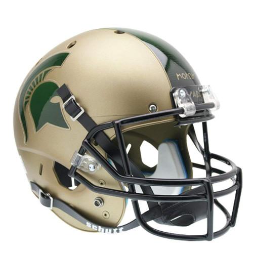 Michigan State Spartans Gold Combat Schutt Full Size Replica XP Football Helmet