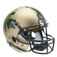 Michigan State Spartans Gold Combat Schutt Full Size Replica Helmet