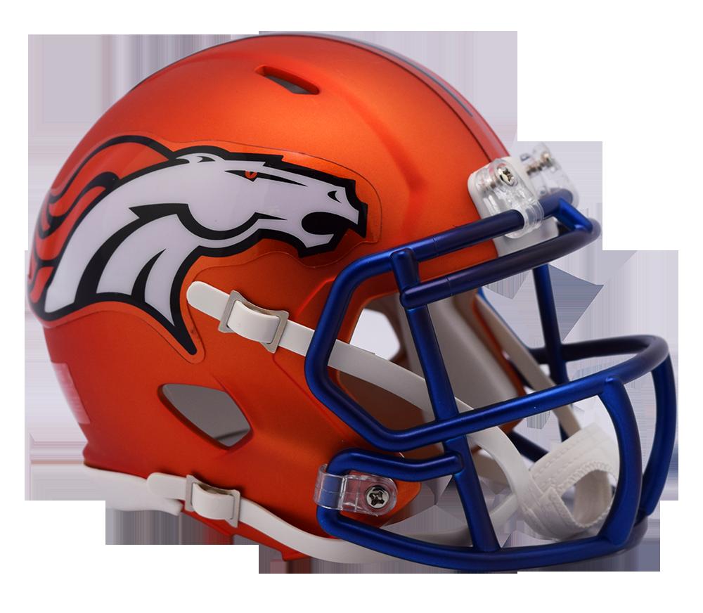Denver Broncos Riddell Speed Mini Helmet - Blaze Alternate ... f91d945fa