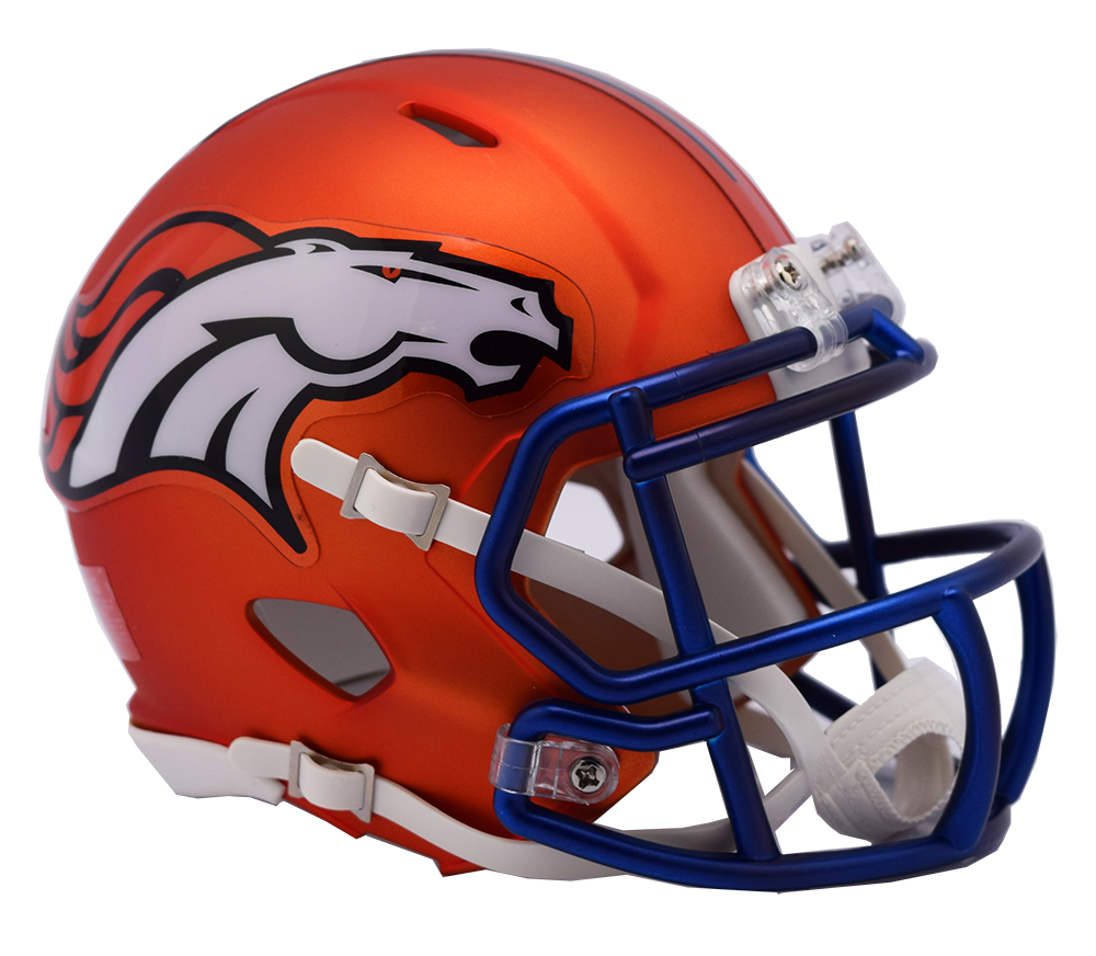 Denver Broncos Riddell Speed Mini Helmet - Blaze Alternate. Riddell. Image 1 bf722ceb6