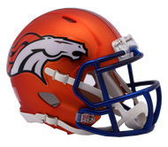 Denver Broncos Riddell Speed Mini Helmet - Blaze Alternate
