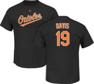 Chris Davis Baltimore Orioles Black Name and Number Men's T-shirt