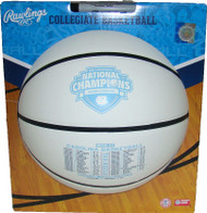 2017 NCAA North Carolina Tar Heels Champions Full Size Commemorative Basketball with Full Schedule