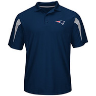 New England Patriots Blue Field Classic Synthetic Polo (Size Small)