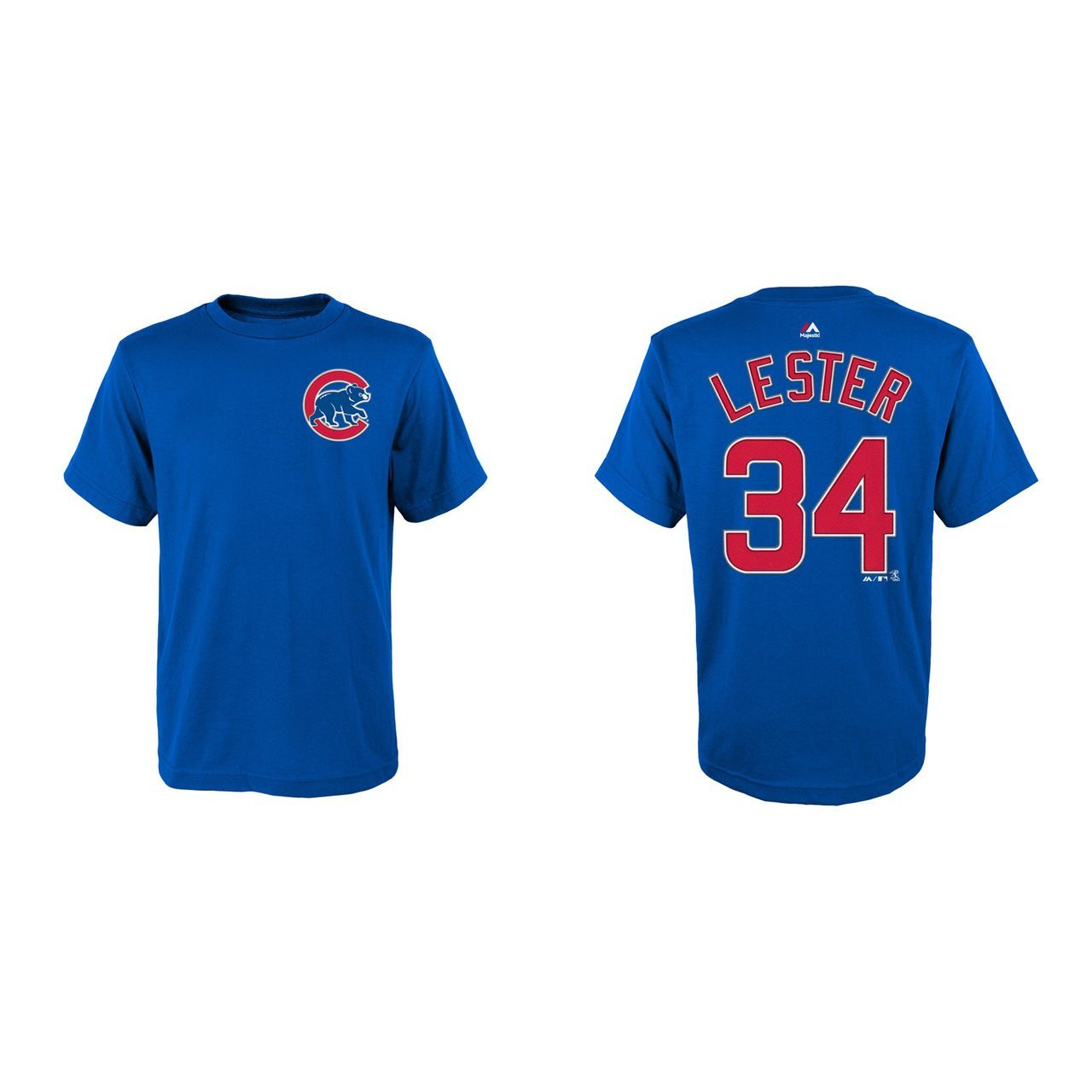 online store 792da f1859 Jon Lester Youth Chicago Cubs Blue Name and Number Jersey T-shirt