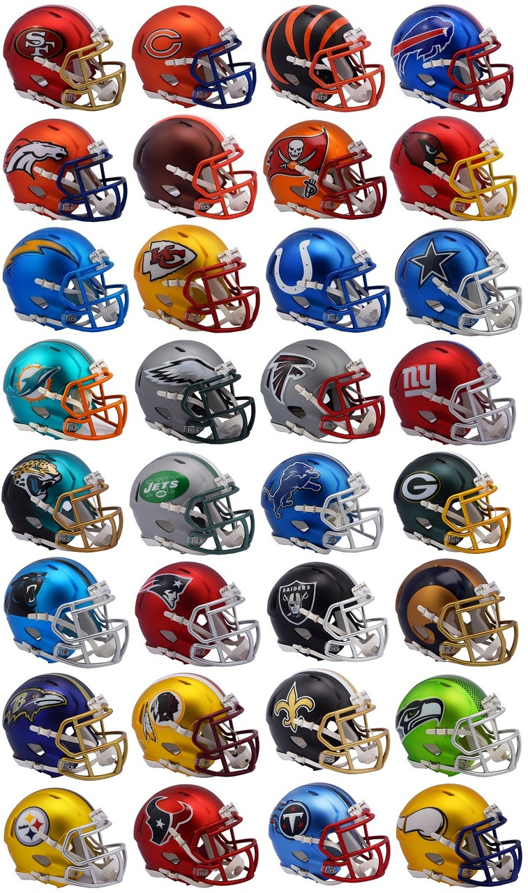 5bd3e8c7f9a Riddell NFL Blaze Alternate Speed Mini Helmet Complete Set (32). Riddell ·  Image 1