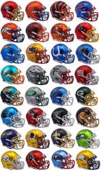 Riddell NFL Blaze Alternate Speed Mini Helmet Complete Set (32)