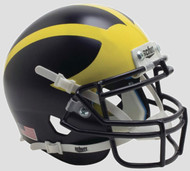Michigan Wolverines 2016 Matte Satin Painted Schutt Mini Authentic Helmet