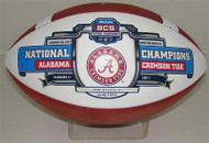 Wilson Alabama Crimson Tide BCS National Champions White Panel Full-Size Football