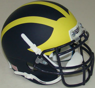 Michigan Wolverines Alternate 2 All Matte Schutt Mini Authentic Helmet