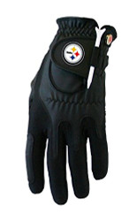 Zero Friction NFL Pittsburgh Steelers Black Golf Glove, Left Hand