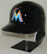 Miami Marlins Black Rawlings Coolflo LEC Full Size Baseball Batting Helmet
