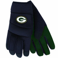 NFL Green Bay Packers Black Deluxe Utility Work Gloves