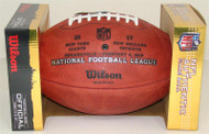 Super Bowl XLVI (Forty-Six 46) New York Giants vs. New England Patriots Official Leather Authentic Game Football (WITH FINAL SCORE) by Wilson