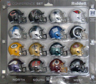 16 NFL Pocket Pro Size Speed Mini Helmets - 2018 NFC Set by Riddell