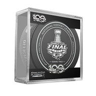 2017 Stanley Cup Finals Game #2 (Two) Pittsburgh Penguins v Nashville Predators Official Game Hockey Puck with Cube