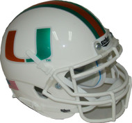 Miami Hurricanes Chrome Schutt Mini Authentic Helmet