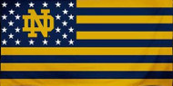 "Notre Dame Fighting Irish Stars & Stripes Fiber 30"" X 60"" Beach Bath Towel"
