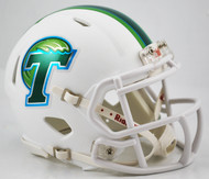 Tulane Green Wave Matte White NCAA Riddell SPEED Mini Helmet