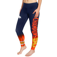 NFL Denver Broncos Super Bowl 50 Champions Collectible Womens Gradient Print Leggings