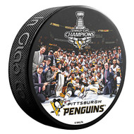 2017 Stanley Cup Champions Pittsburgh Penguins Team Photo Souvenir Hockey Puck