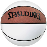 SPALDING 3 WHITE PANEL AUTOGRAPH FULL SIZE BASKETBALL