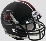 South Carolina Gamecocks Alternate Matte Black Schutt Mini Authentic Football Helmet