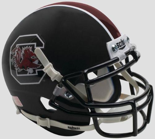 South Carolina Gamecocks Alternate Matte Black Schutt Mini Authentic Football Helmet