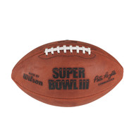 Super Bowl III (Three 3) New York Jets vs. Indianapolis Colts Official Leather Authentic Game Football by Wilson