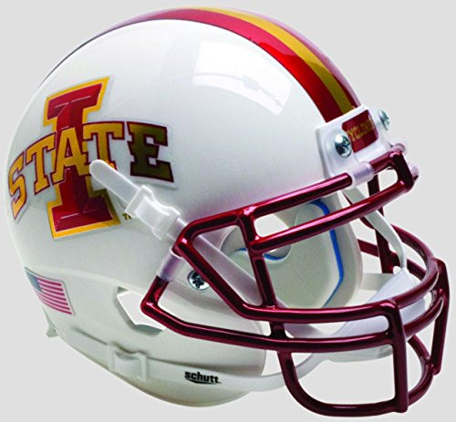 Iowa State Cyclones White Chrome Schutt Authentic Mini Football Helmet