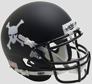 Army Black Knights Alternate Matte Black Schutt Authentic Mini Football Helmet