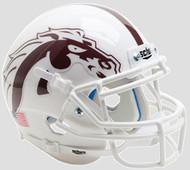 Western Michigan Broncos Alternate White Mask Schutt Authentic Mini Football Helmet
