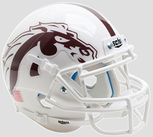 Western Michigan Broncos Alternate White Mask Schutt Authentic Mini Football Helmet