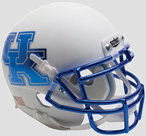 Kentucky Wildcats Alternate White Chrome Schutt Authentic Mini Football Helmet
