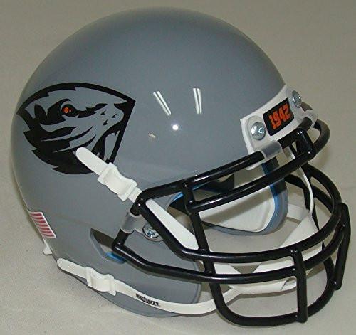 Oregon State Beavers Alternate Grey Schutt Authentic Mini Football Helmet