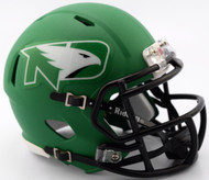 North Dakota Fighting Sioux 2017 Matte Green NCAA Riddell SPEED Mini Helmet