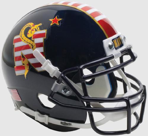 Navy Midshipmen Alternate Don't Tread on Me Schutt Mini Authentic Football Helmet