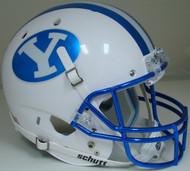 Brigham Young BYU Cougars Alternate Chrome Schutt Full Size Replica XP Football Helmet