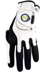 Zero Friction NCAA Michigan Wolverines White Golf Glove, Left Hand