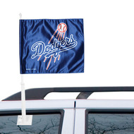WinCraft Los Angeles Dodgers Double-Sided Car Flag - Royal Blue