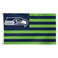 Seattle Seahawks NFL American Flag 3 foot by 5 Foot