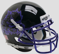 TCU Texas Christian Horned Frogs Alternate Black Chrome Schutt Mini Authentic Helmet