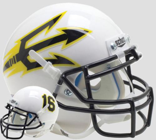 Arizona State Sun Devils White Alternate Schutt Mini Authentic Football Helmet