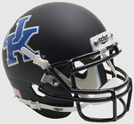 KENTUCKY WILDCATS NCAA Schutt XP Authentic MINI Football Helmet UK (MATTE BLACK)